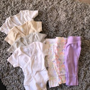 Other - Newborn Kimono onesie and jogger lot